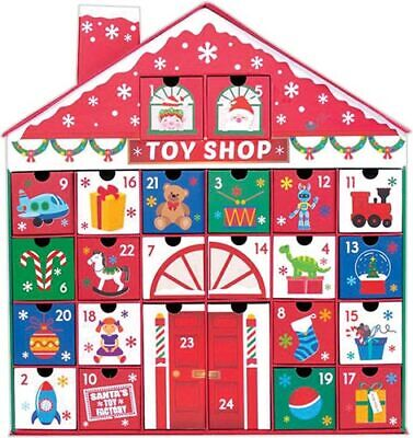 Christmas Toy Shop Advent Calendar Fill With Your Own Treats Countdown The Days ()