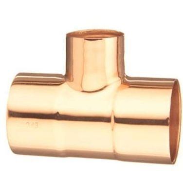 12 Copper Tee Plumbing Fitting 10032700 - Elkhart Box Of 10