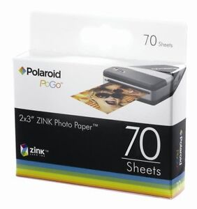 Polaroid-Zink-70-fogli-POGO-Carta-fotografica-2x3-adatta-Z2300-ZIP-Snap-Mobile-Printer