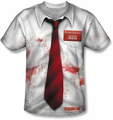 Shaun Of The Dead Movie Sublimation Bloody Halloween Costume Mens T Shirt S-3Xl](Shaun Of The Dead Halloween Costume)