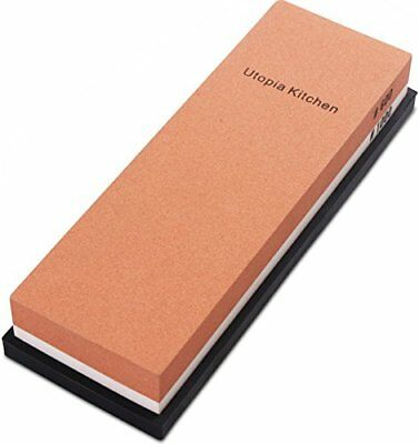 Double-Sided Knife Sharpening Stone Multi-Colored - 600/1000 Grit Utopia Kitchen