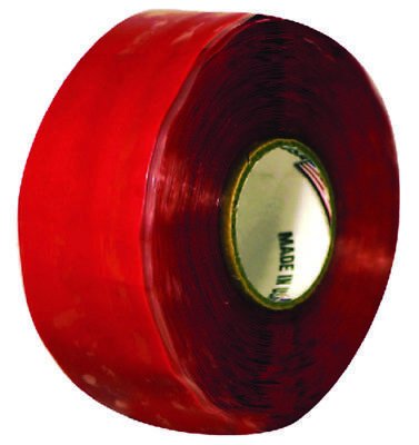 Boat Marine Silicone Self Fusing Tape Red 1 X 10 Salt Water Resistant