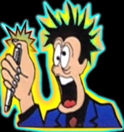 2X Shocking Electric Shock Novelty Metal Pen Prank Trick Joke Gag Toy Gift Funny