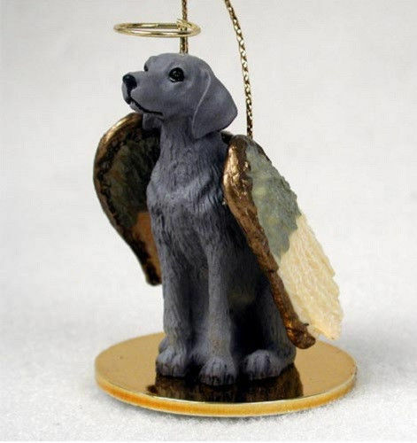 Weimaraner Ornament Angel Figurine Hand Painted