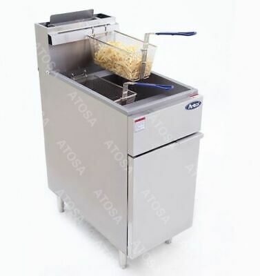 Atosa Atfs-50 Stainless Steel Deep Fat Fryer 40 Lb Gas Commercial Propane Lp
