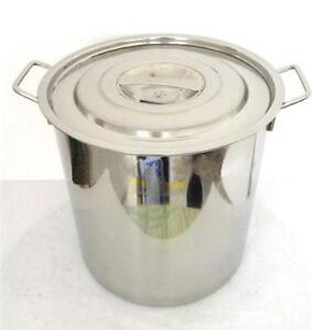 """15""""Full 304 Stainless Steel Stockpot with Lid#140011"""
