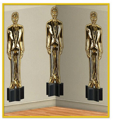 Awards Night Scene Setter Hollywood party wall BACKDROP Male Statuettes Oscar](Oscar Night Decorations)