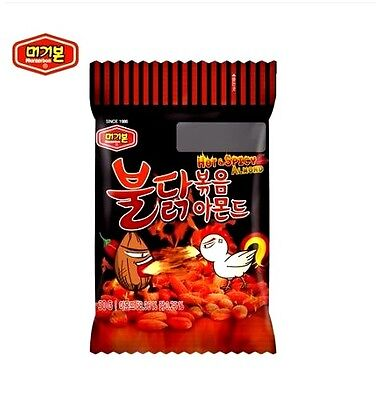 KOREAN SUPER HOT SPICY FIRE Amond BULDAKBOKEUM Amond 2017 New Snack Food 30g 1EA