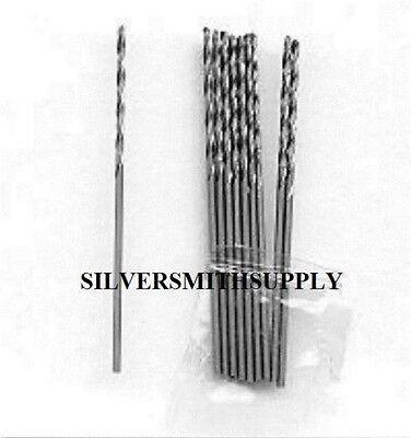 10 Silversmith 1mm steel twist drill bits drill metal