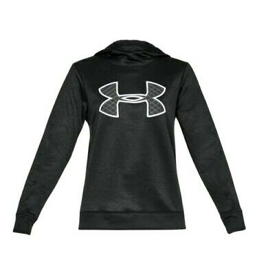 New Under Armour Big Logo Fleece Hoodie 1317891 Black Women's Large $55