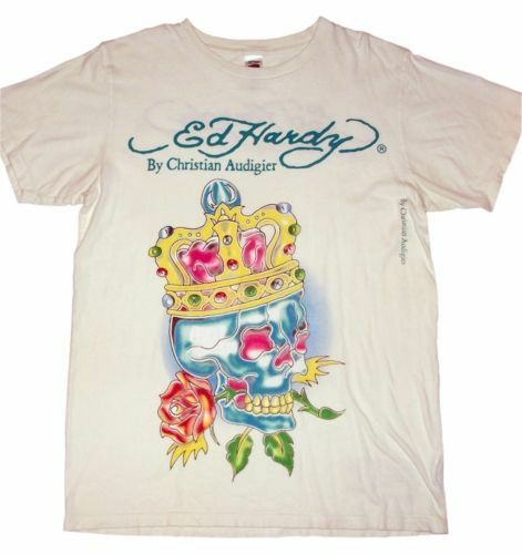 Designer t-shirt Ed Hardy Love Kills slowly strass