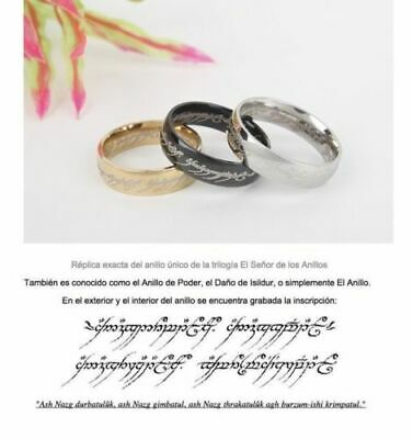 ORIGINAL ANILLO - The Lord of the Rings - Anillo unico del...