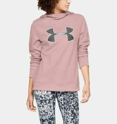 NWT ~ Under Armour Womens UA Fleece Big Logo Hoodie Pink M 1317891 602 $55