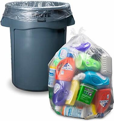 Clear Trash Bags 55 Gallon Large Clear Plastic Recycling Garbage Bags 50/Case