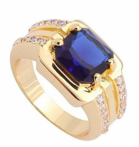mens blue sapphire ring ebay. Black Bedroom Furniture Sets. Home Design Ideas