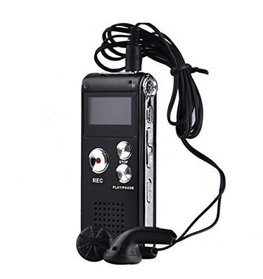 Digital Audio/Sound/Voice Recorder Rechargeable 8GB 650H Dictaphone MP3 Player