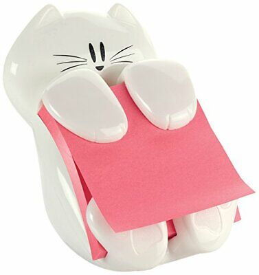 Post-it Pop Up Sticky Note Cat Dispenser Accordion Holder 3 X 3 White 330