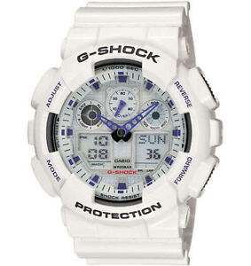 Casio-G-Shock-GA100A-7A-Analog-Digital-White-Mens-Watch