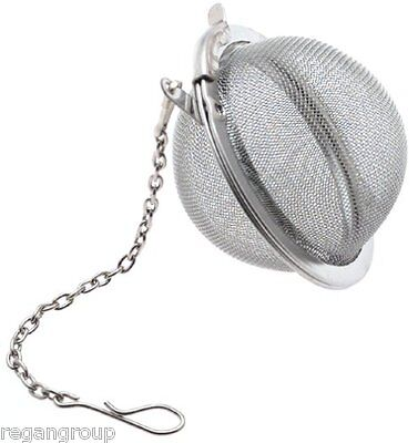 - Tea Infuser Ball Mesh Loose Leaf Herb Strainer Stainless Steel Secure Locking 2