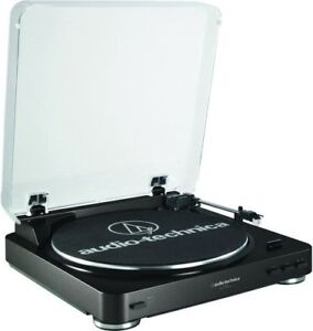 NEW - Audio-Technica AT-LP60BK Automatic Belt Driven Turntable