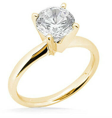 1.50 ct Round Diamond GIA I SI2 Excellent Solitaire 14K Yellow Gold Ring #LS