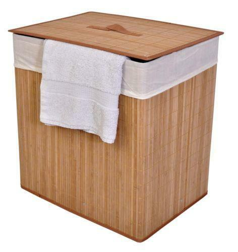 Bamboo hamper ebay - Bamboo clothes hamper ...