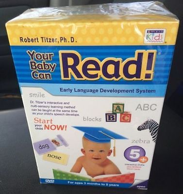 YOUR BABY CAN READ Early Language Interactive Development System 5 DVD's + Bonus