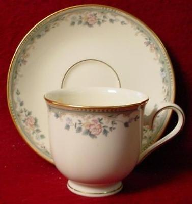 LENOX china SPRING VISTA pattern CUP & SAUCER - Set of Two (2) - 3""