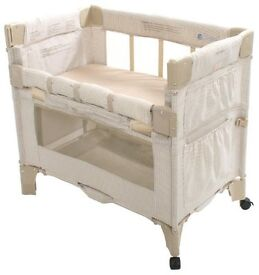 travel cot/ playpen. Co-sleeper by arms reach