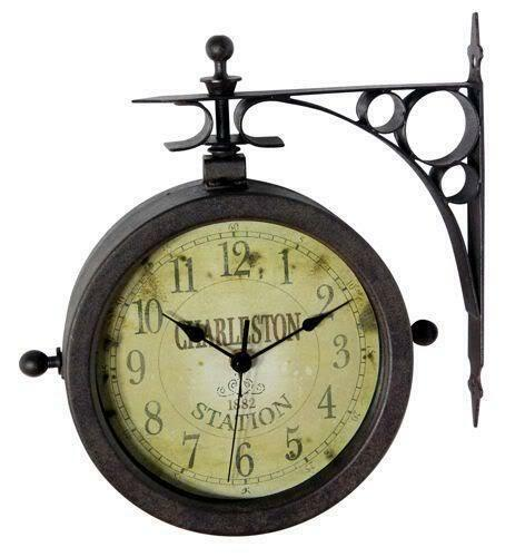 Outdoor Hanging Clock Ebay