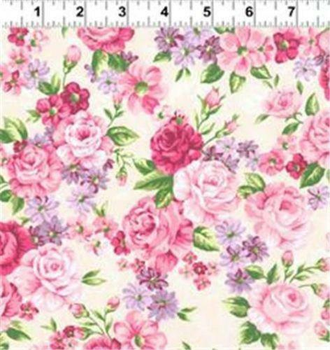 Cabbage Rose Fabric Ebay