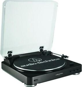 NEW Audio-Technica AT-LP60BK Fully Automatic Belt Driven Turntable - Black Condtion: New, Black, Base, Missing one cable