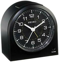 Seiko 3 Compact & Lightweight Bedside Alarm Clock (QHE085KLH)