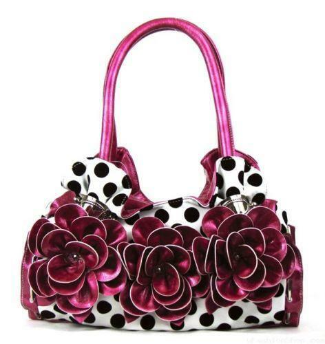 Polka Dot Flower Purse Ebay