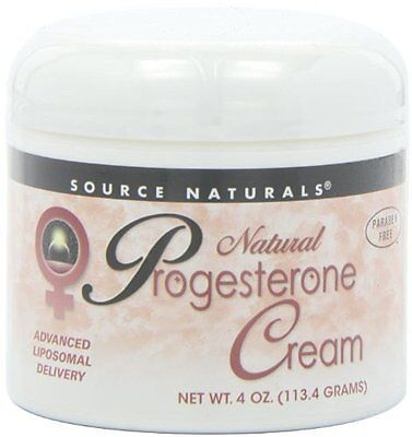 Natural Progesterone Cream by Source Naturals: Supports Hormonal Balance, 4 oz.