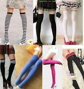 Black and White Striped Stockings