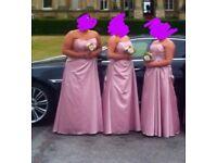 Pink Bridesmaid dresses X 3