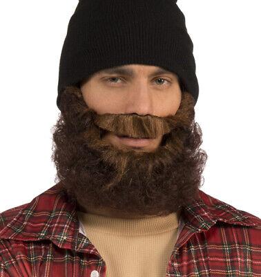 Adult Brown Lumberjack Beard Costume - Lumberjack Halloween Costume Mens