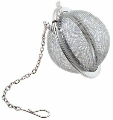 Tea Infuser Ball Mesh Loose Leaf Herb Strainer Stainless Steel Secure Locking 2