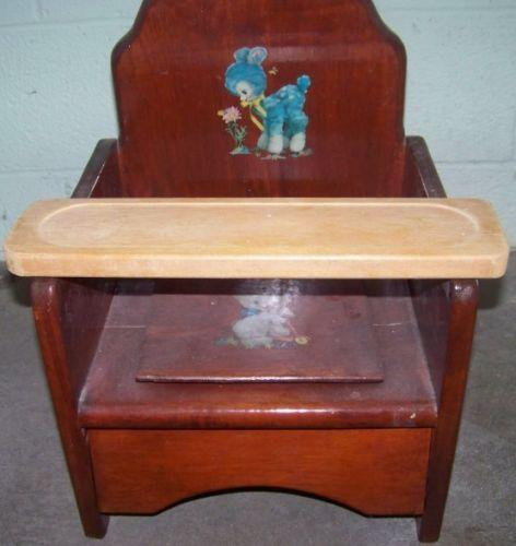 Vintage Wooden Potty Chair Ebay