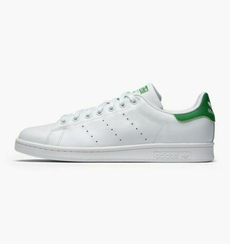 ADIDAS Men's Originals Stan Smith White-White-Green M20324 sz 7 - 13 MSRP $120