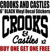 Crooks and Castles Stickers