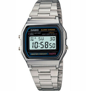 CASIO-DIGITAL-SILVER-VINTAGE-RETRO-WATCH-A158WA-A158