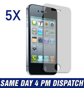 5-X-Matte-Anti-Glare-Front-LCD-Screen-Protector-Guard-Film-For-iPhone-4-4G-4S