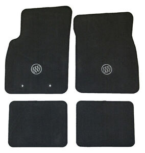BUICK FLOOR MATS ( NEW OEM FACTORY) BLACK W/ LOGO CARPETED