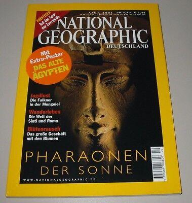 National Geographic Deutschland Pharaonen der Sonne Jagdlust Wanderleben 04/2001