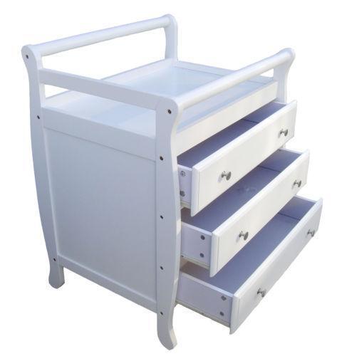 baby change table drawers ebay. Black Bedroom Furniture Sets. Home Design Ideas