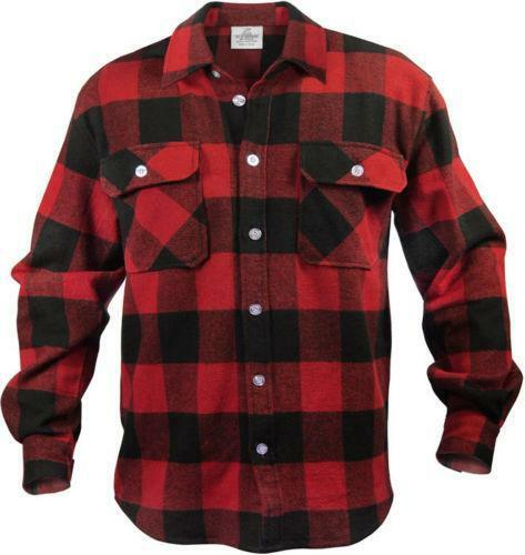 Buffalo plaid shirt ebay for Red and white plaid shirt mens