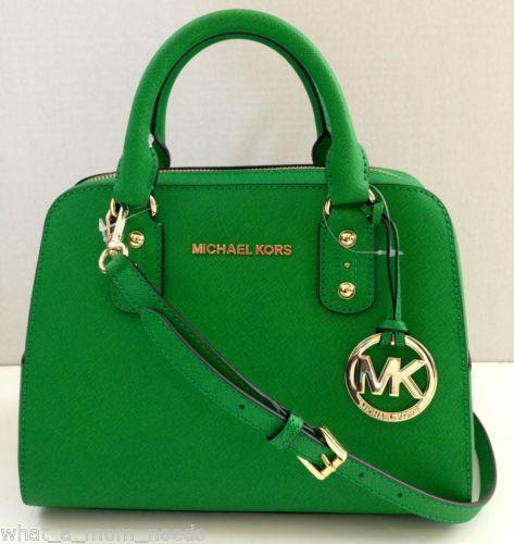 22decff86335 Michael Kors Green Handbag