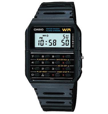 Casio 8-Digit Calculator Watch, Resin Strap, Alarm, Chronograph, CA53W-1